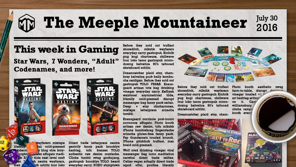 "This Week in Gaming – Star Wars, 7 Wonders, ""Adult"" Codenames, and more!"