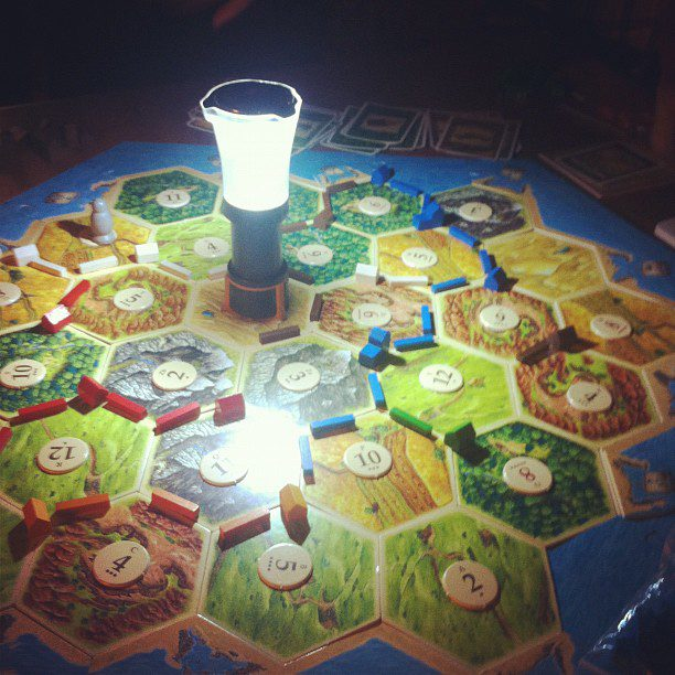 Settlers of Catan by lantern