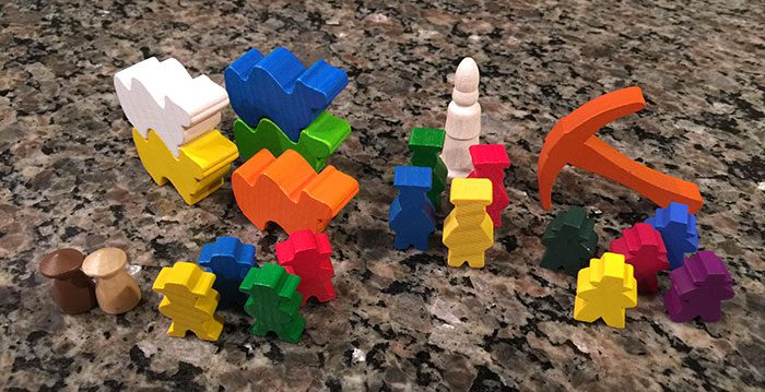 Meeples of all shapes and colors