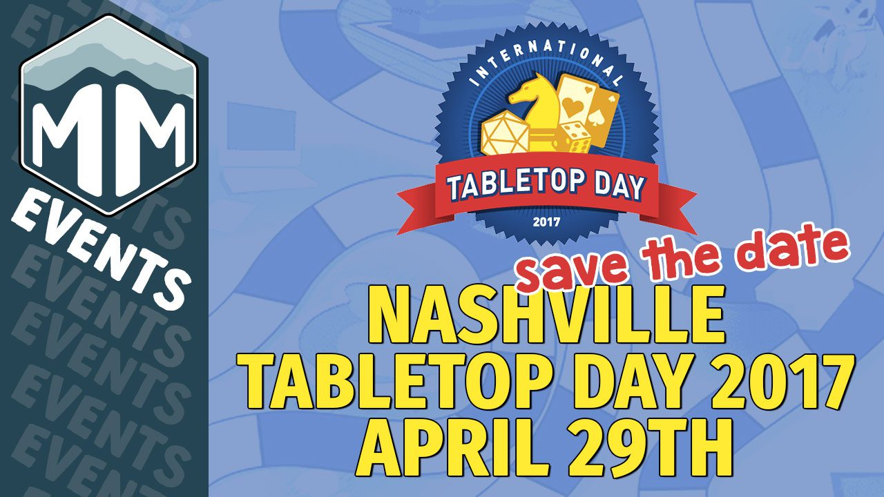 Nashville Tabletop Day 2017 - Save the Date