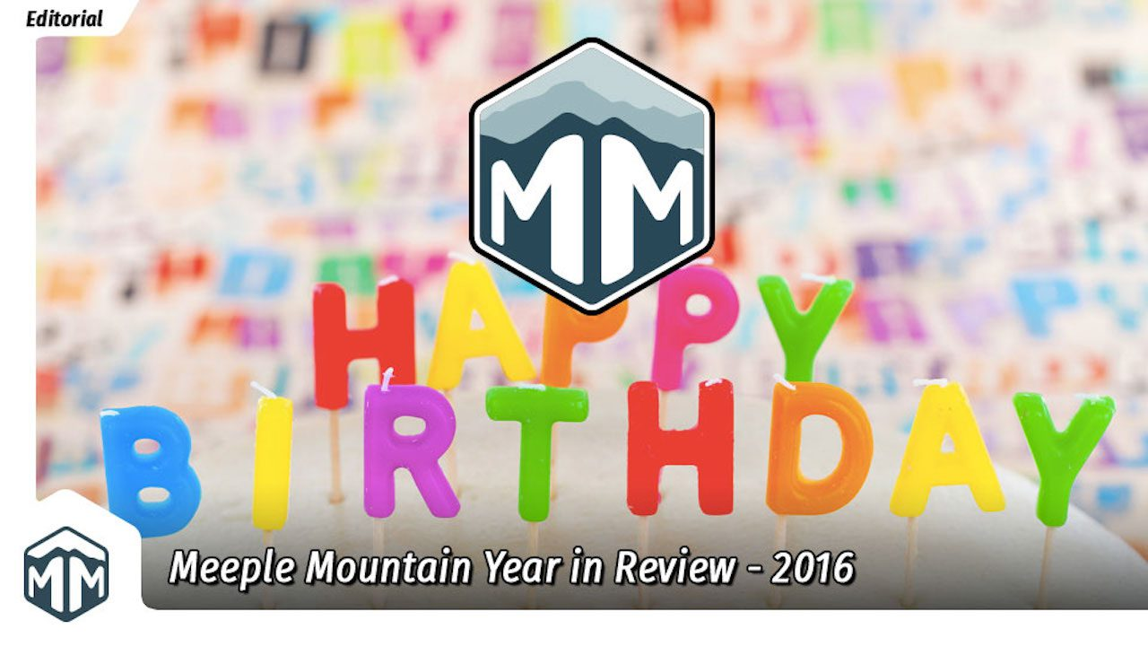 Meeple Mountain is One Year Old!