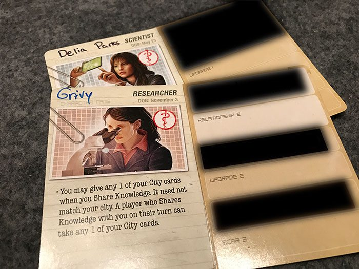 Pandemic: Legacy - role cards