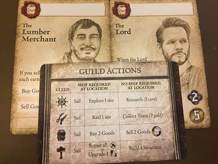 Seafall advisors and actions