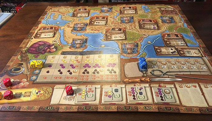 The Voyages of Marco Polo board
