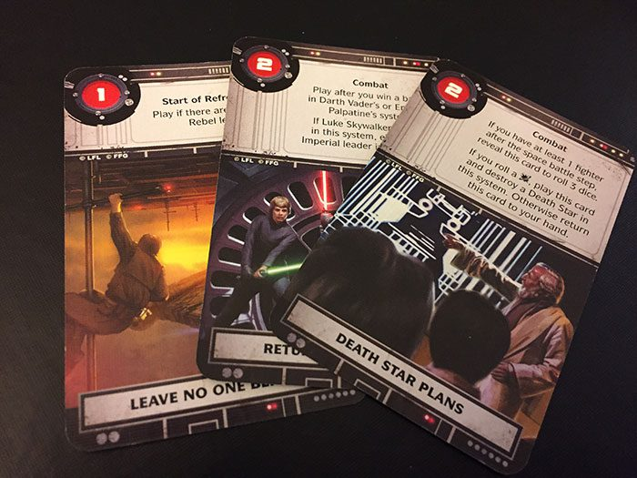 Star Wars: Rebellion - objective cards