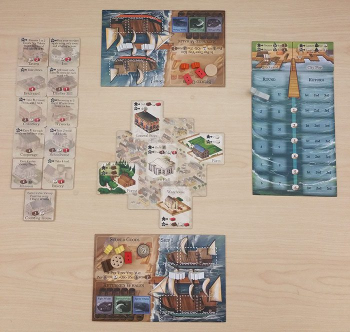 New Bedford two player setup