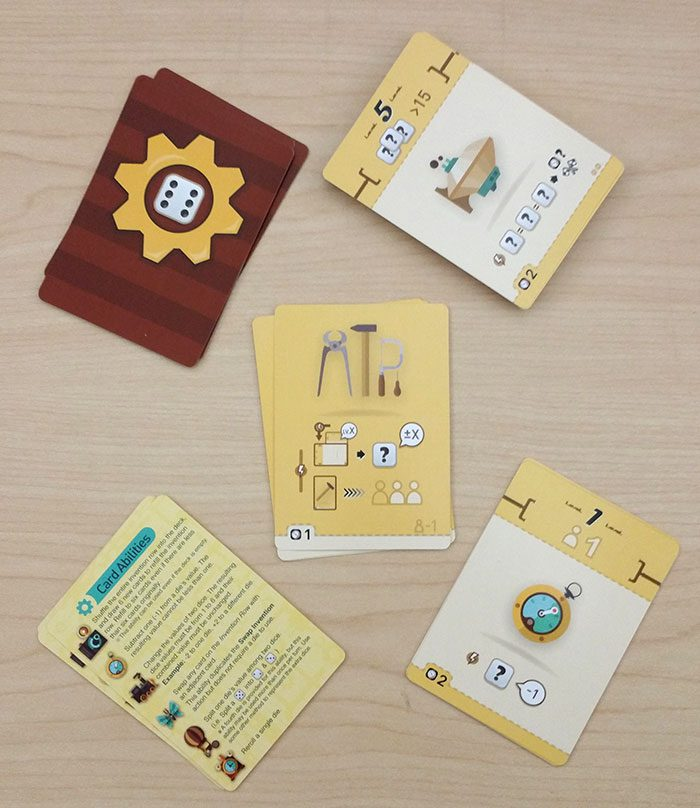 Nerdy Inventions card types