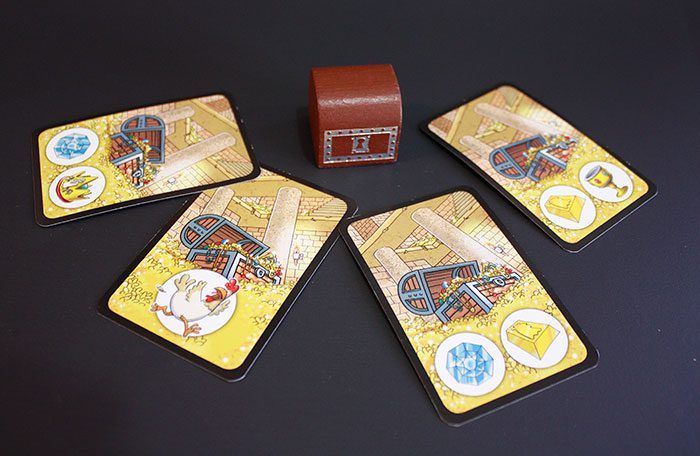 Cards and treasure chest