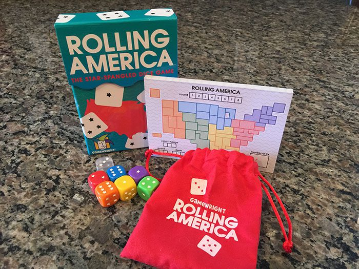 Rolling America components and box