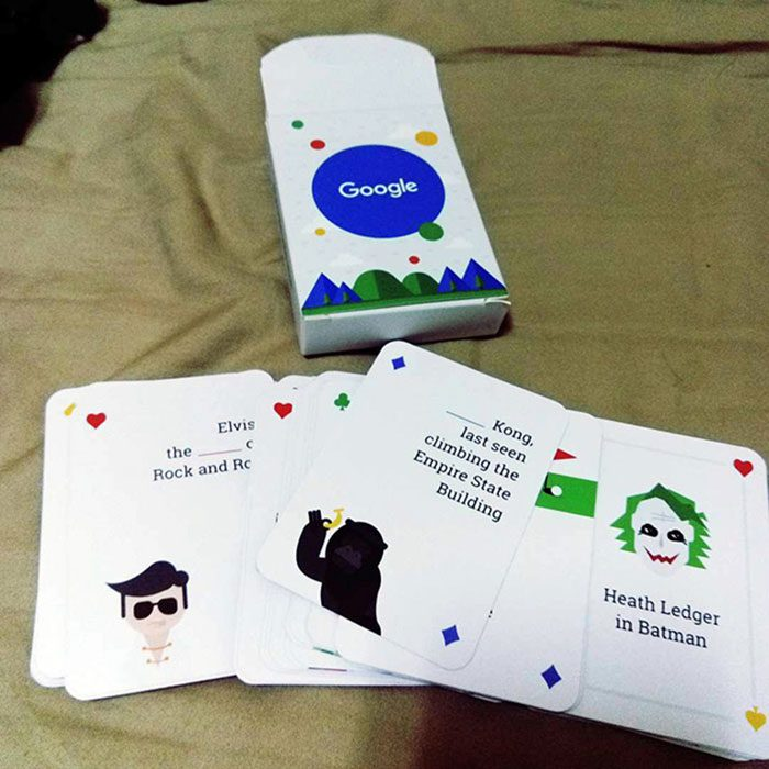 Google playing cards