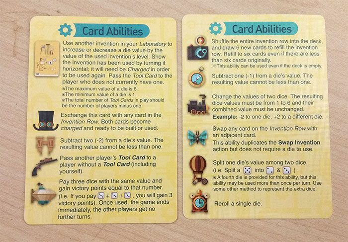 Nerdy Inventions player aid