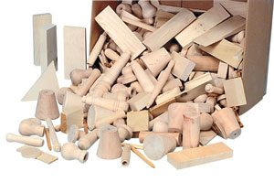 Wooden crafting shapes