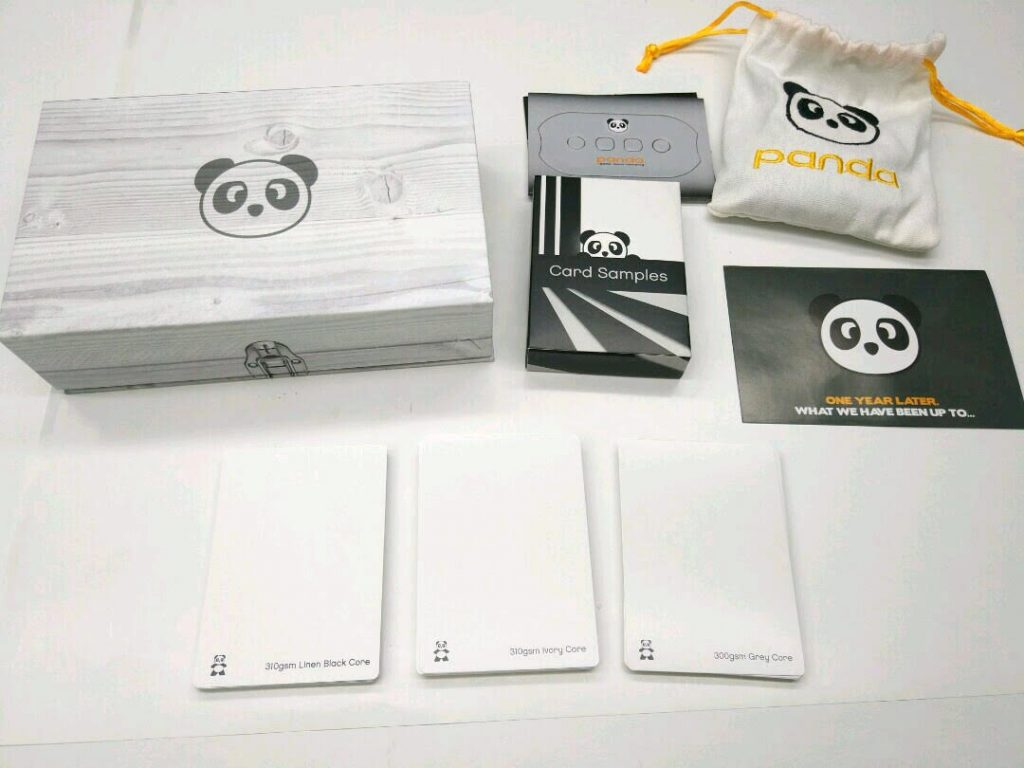 Card samples in the Panda designer kit