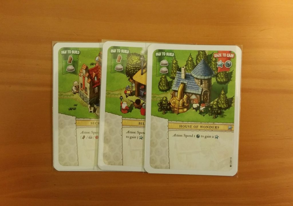 several white colored cards