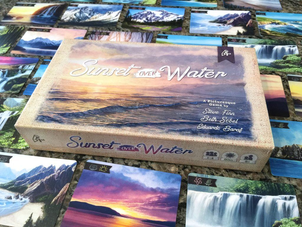 Sunset Over Water box and landscape cards