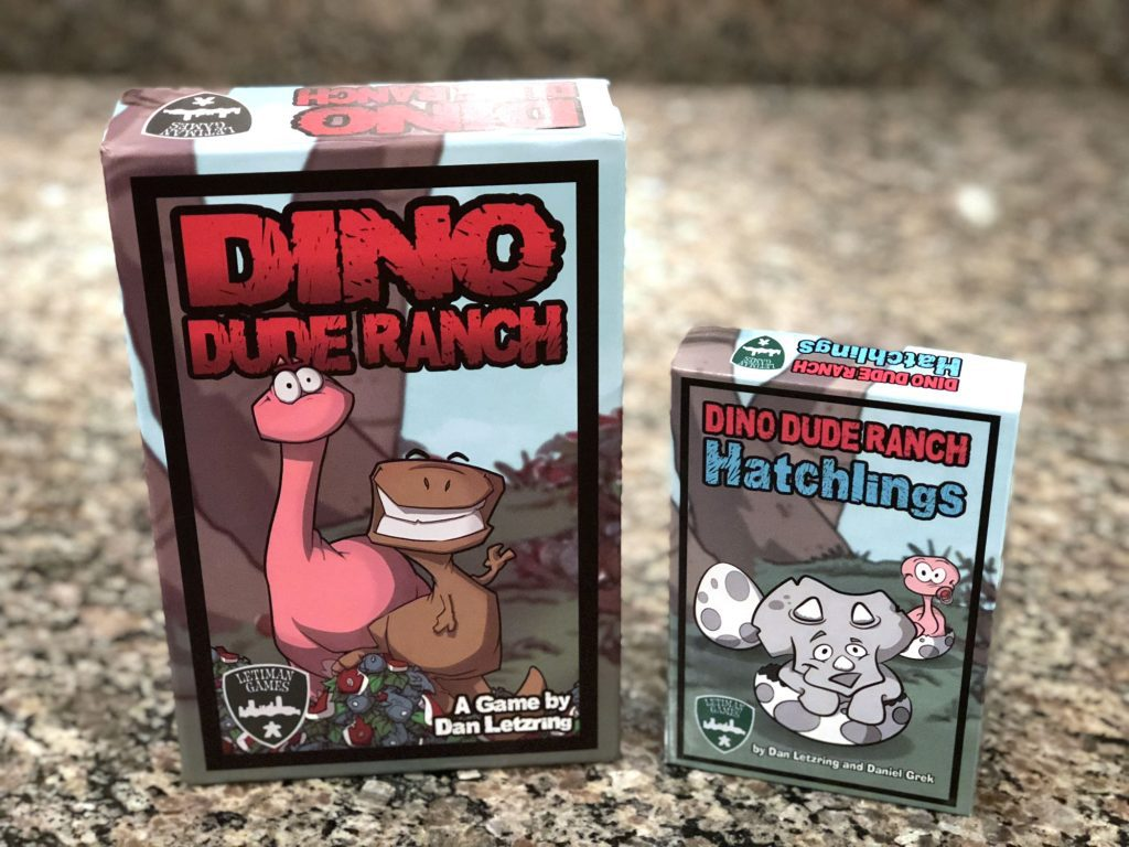 Dino Dude Ranch Hatchlings box with it's momma