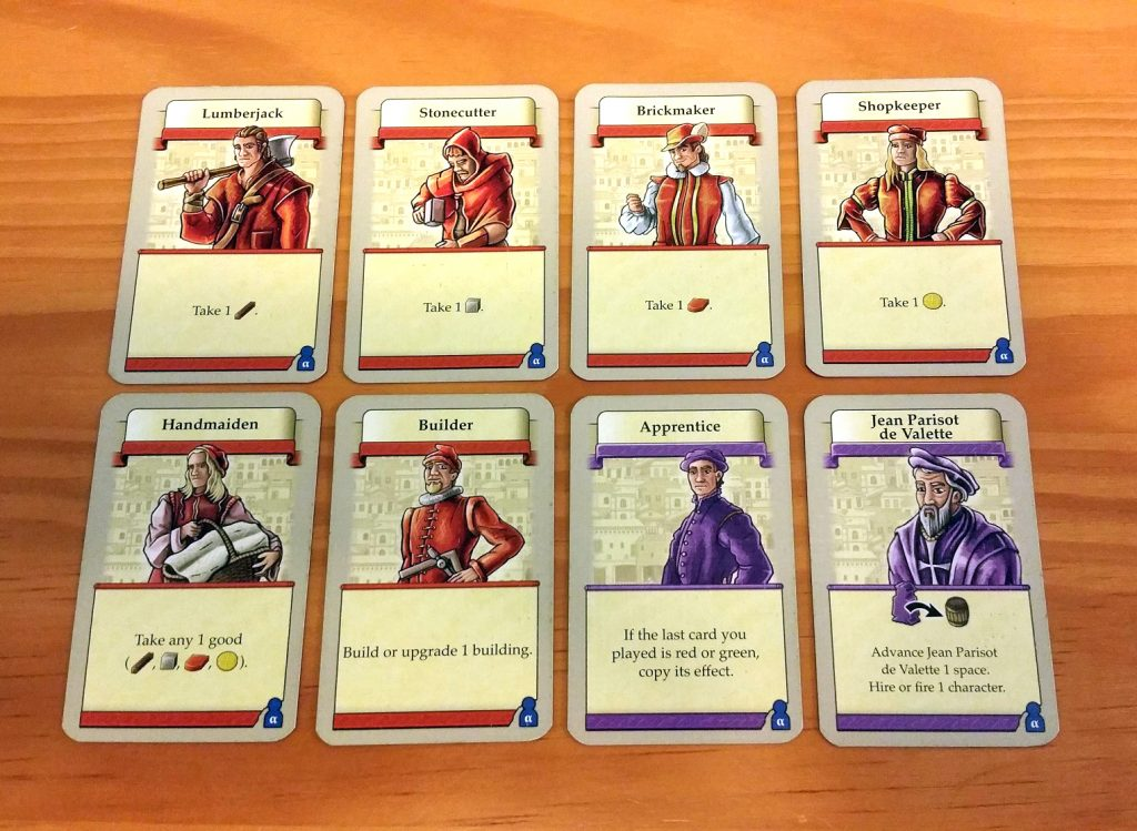 Valletta starting cards