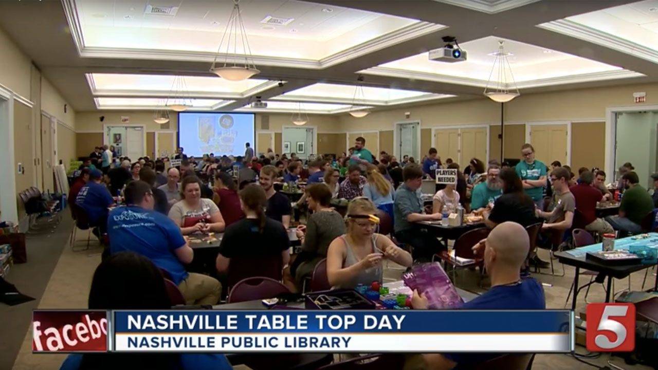 Nashville Tabletop Day featured on News Channel 5