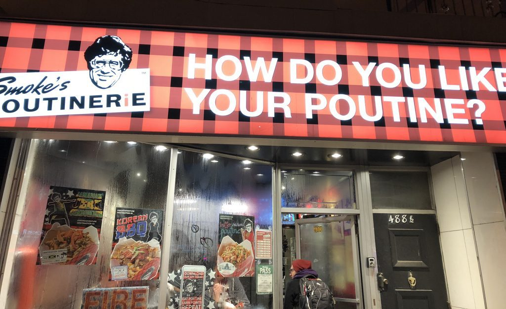 Smokes Poutinerie sign