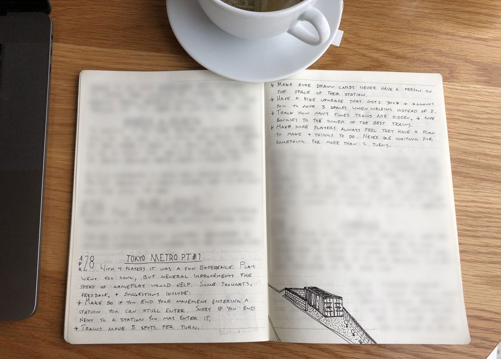 Design notes from an earlier version of the game