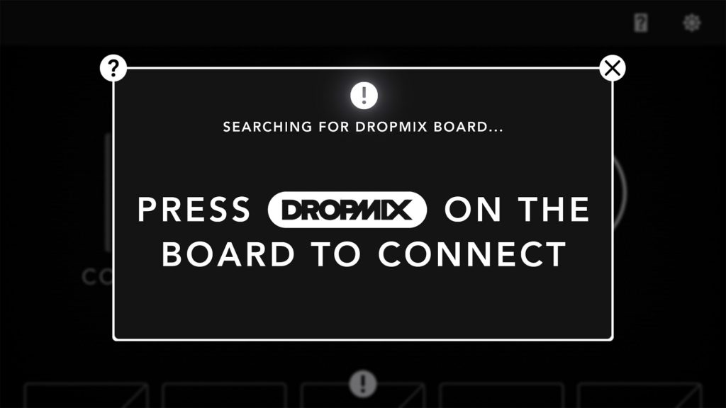 Dropmix connecting the app to the board