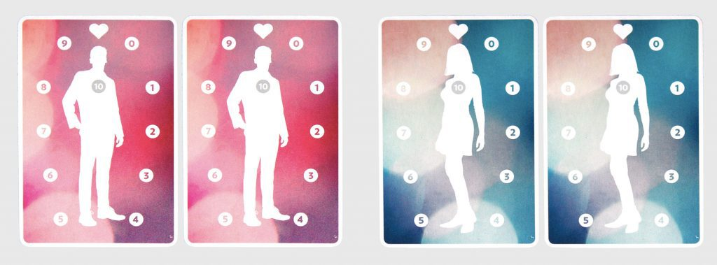 Fog of Love male and female cards