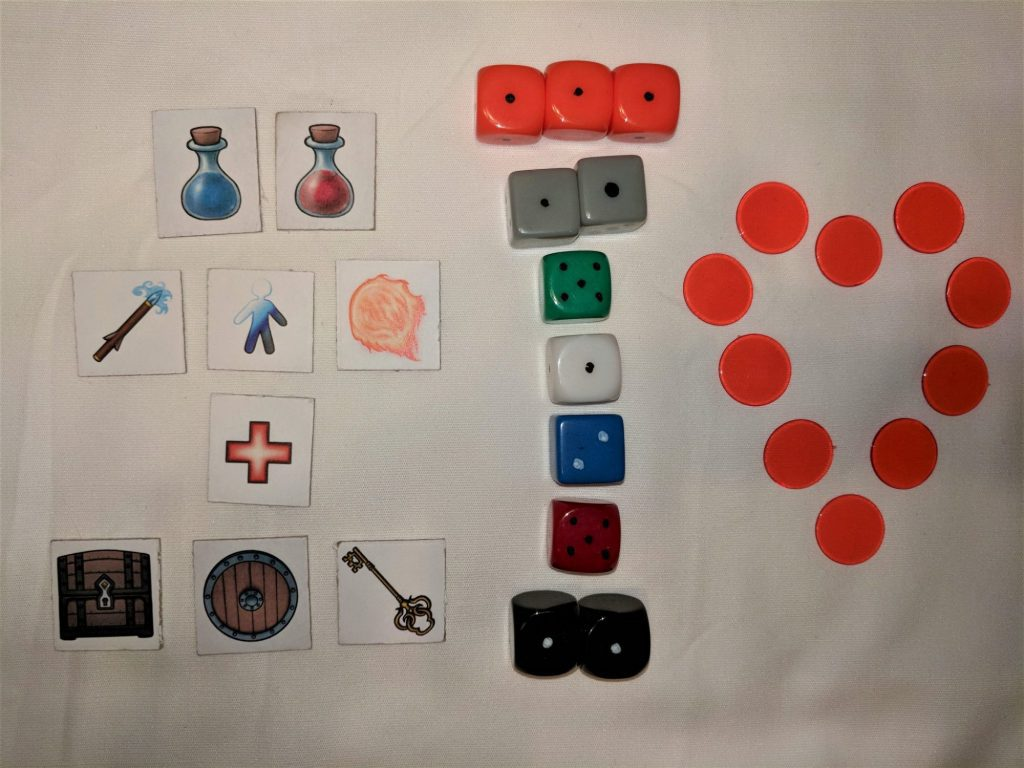 Components from Heroes & Treasures