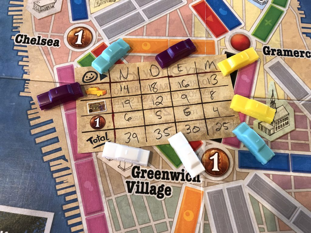 Ticket to Ride: New York final score