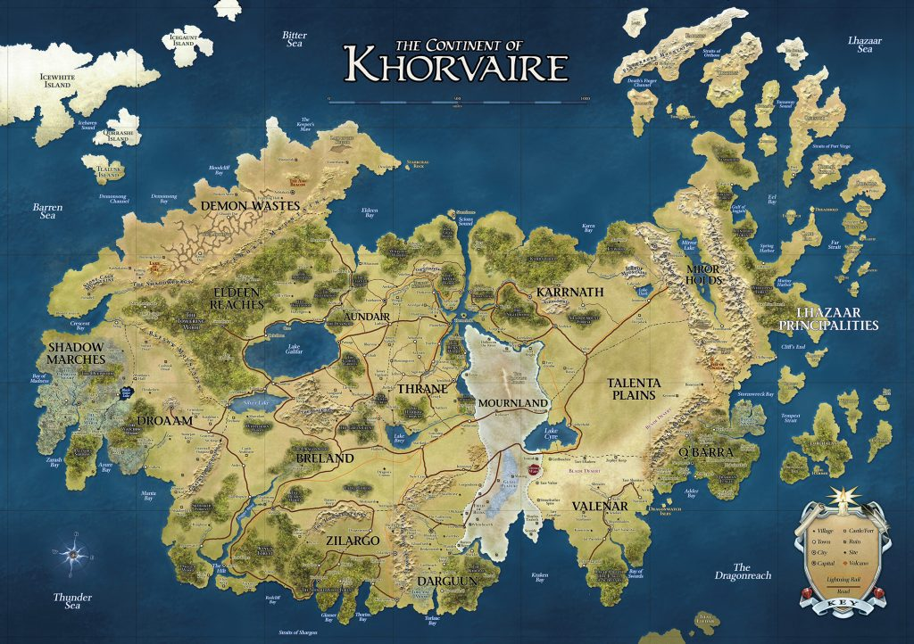 Khorvaire map