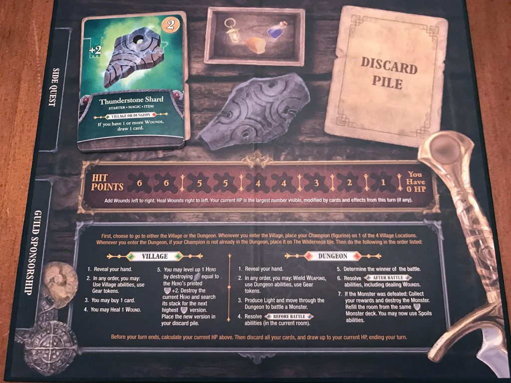 Thunderstone Quest player board
