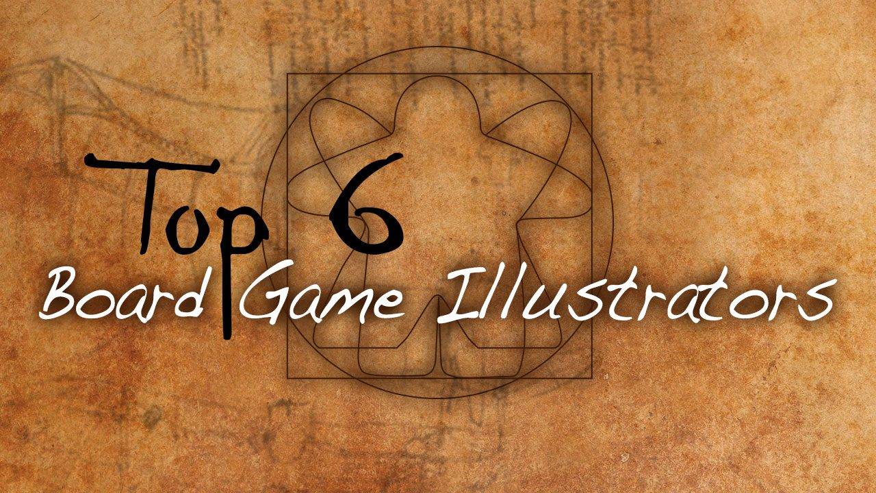 Top 6 Board Game Illustrators header