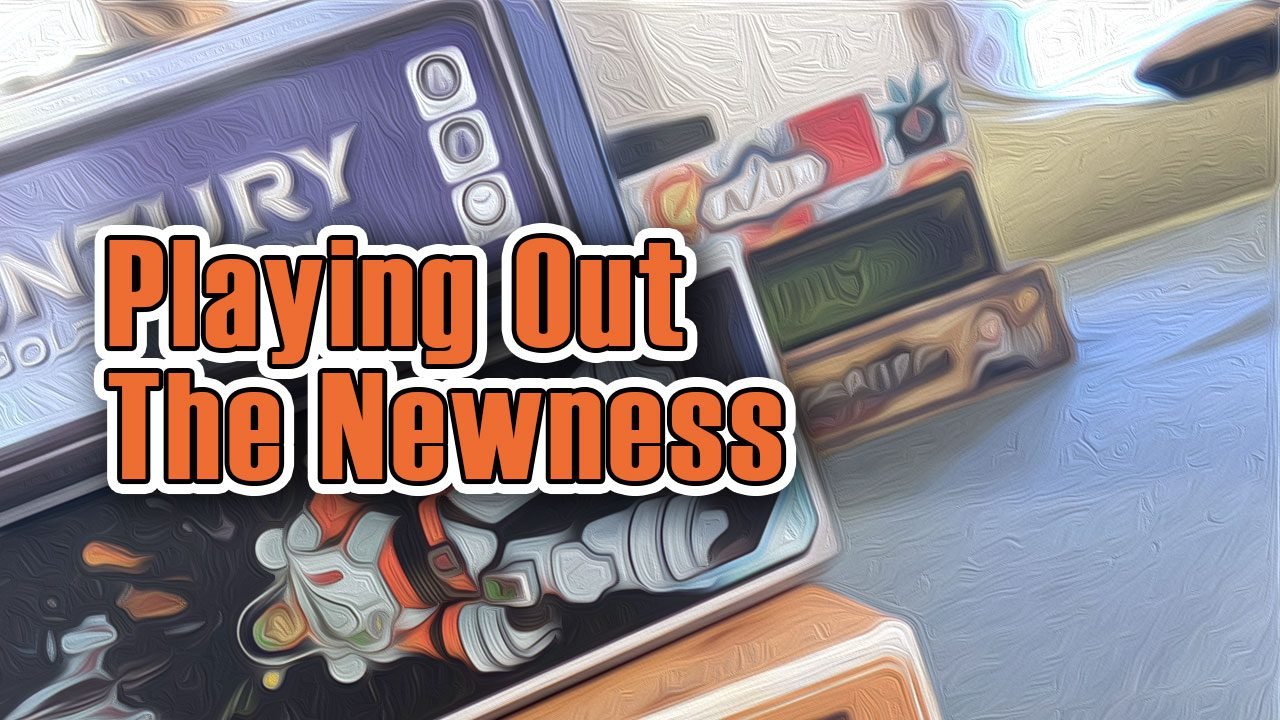 "Playing out ""The Newness"" header"