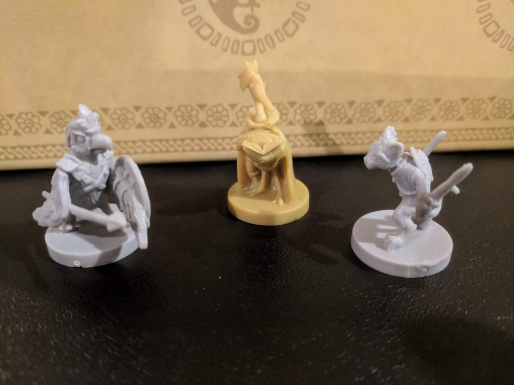 Photo of miniatures from game.