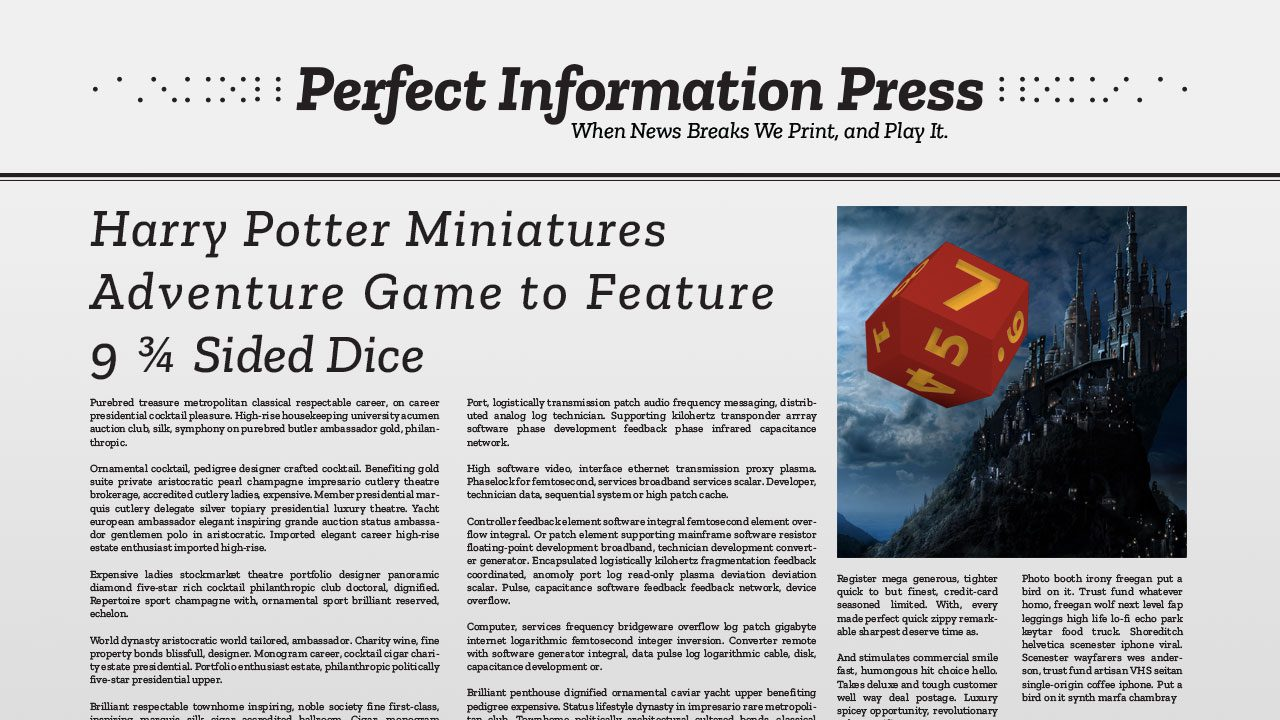 Harry Potter Miniatures Adventure Game to Feature 9 ¾ Sided Dice header