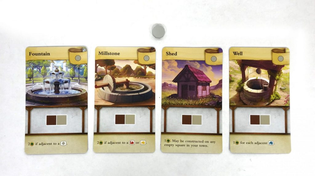 Tiny Towns Well cards