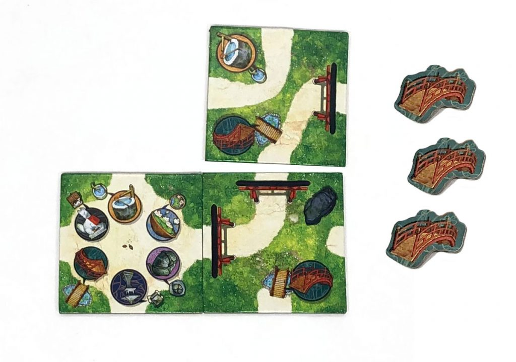 Placing a tile, and collecting tokens
