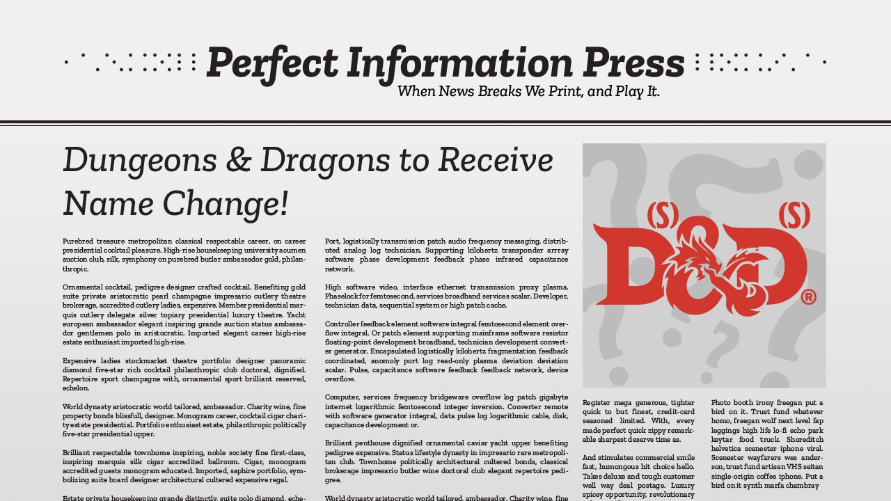 Dungeons & Dragons to Receive Name Change header