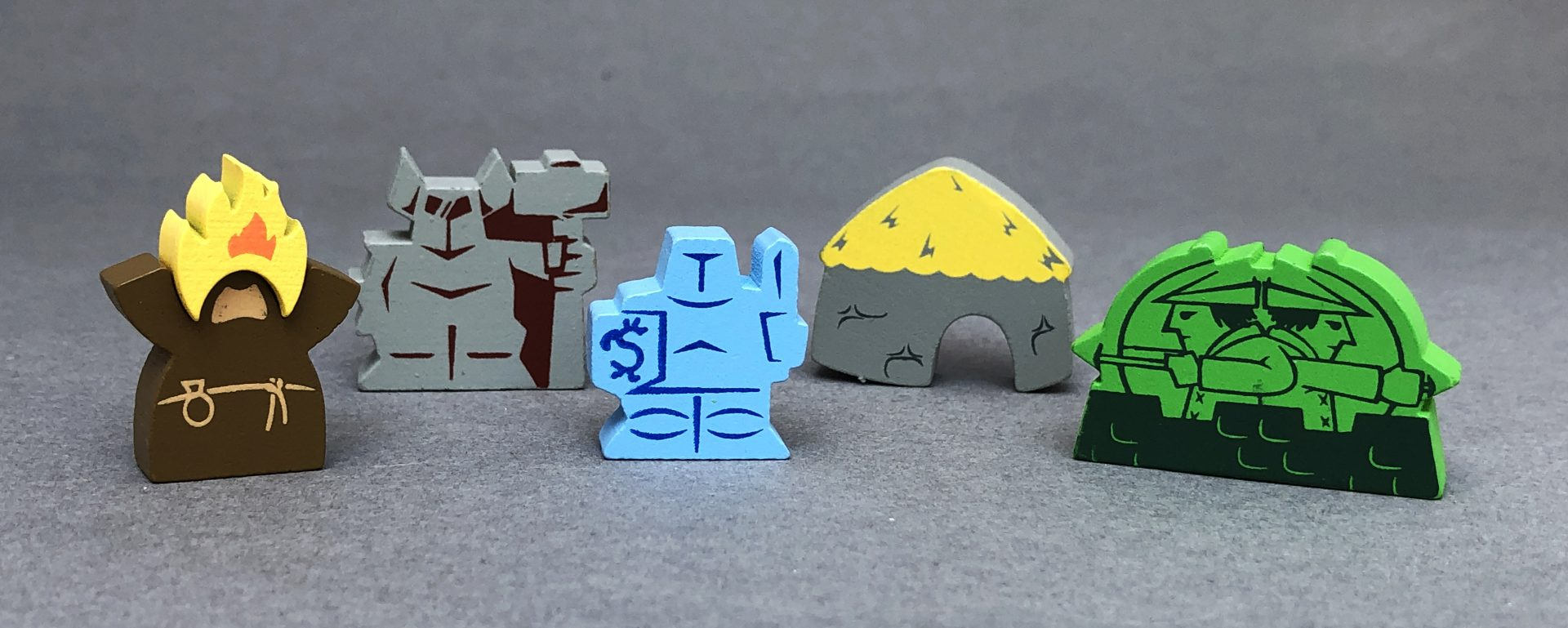Wooden Meeples of Trogdor