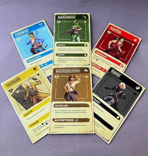 Sub Terra 2 Character Cards