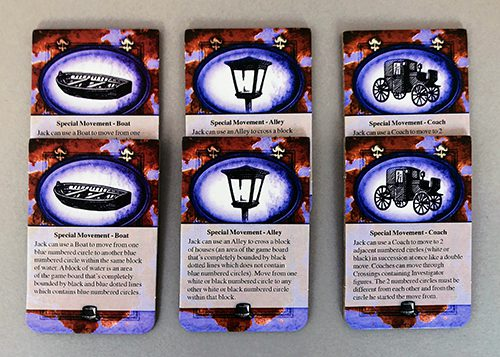 Jack's special movement cards