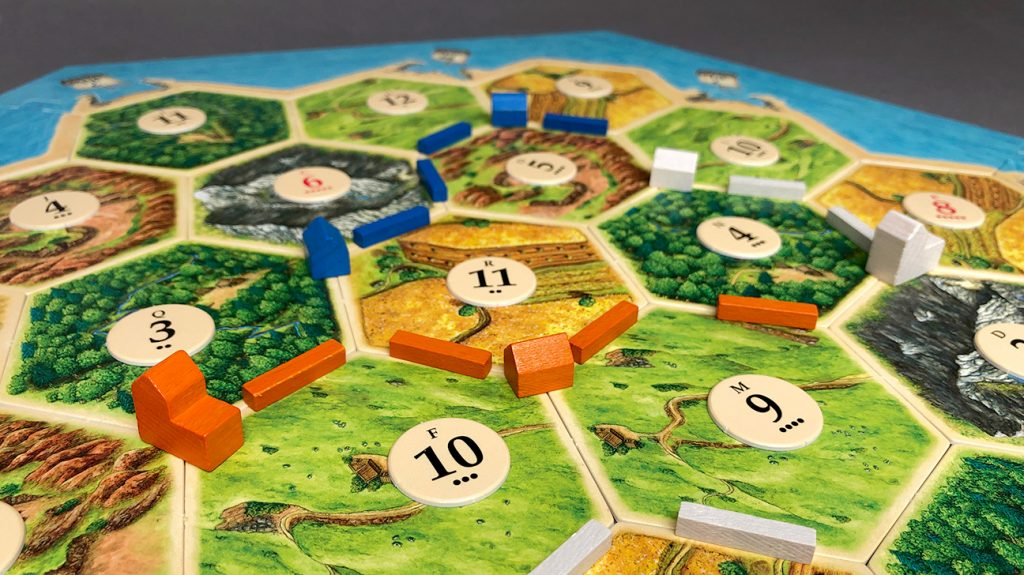 Catan Board with numbered chits.