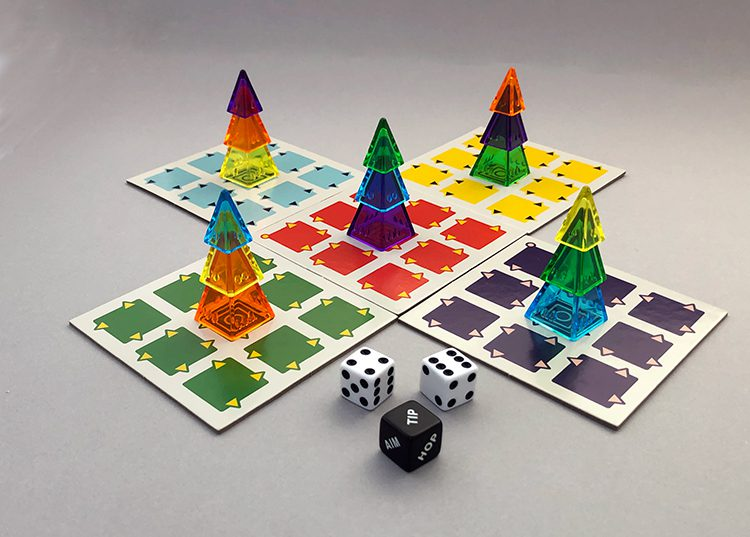 A five-player setup of Looney Ludo