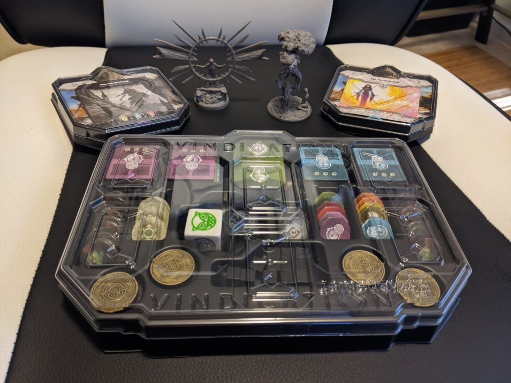Vindication components and GameTrayz