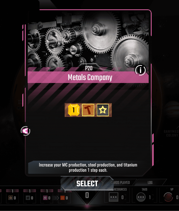 The Metals Company Prelude card offers a very nice increase.