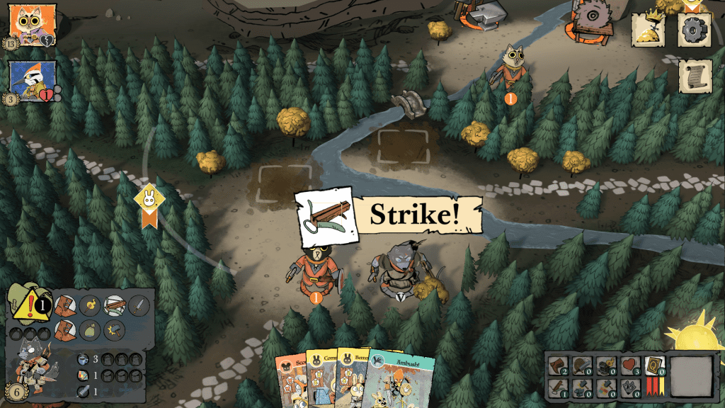 The Strike action is animated with a cool over-the-shoulder, behind-the-head shot.