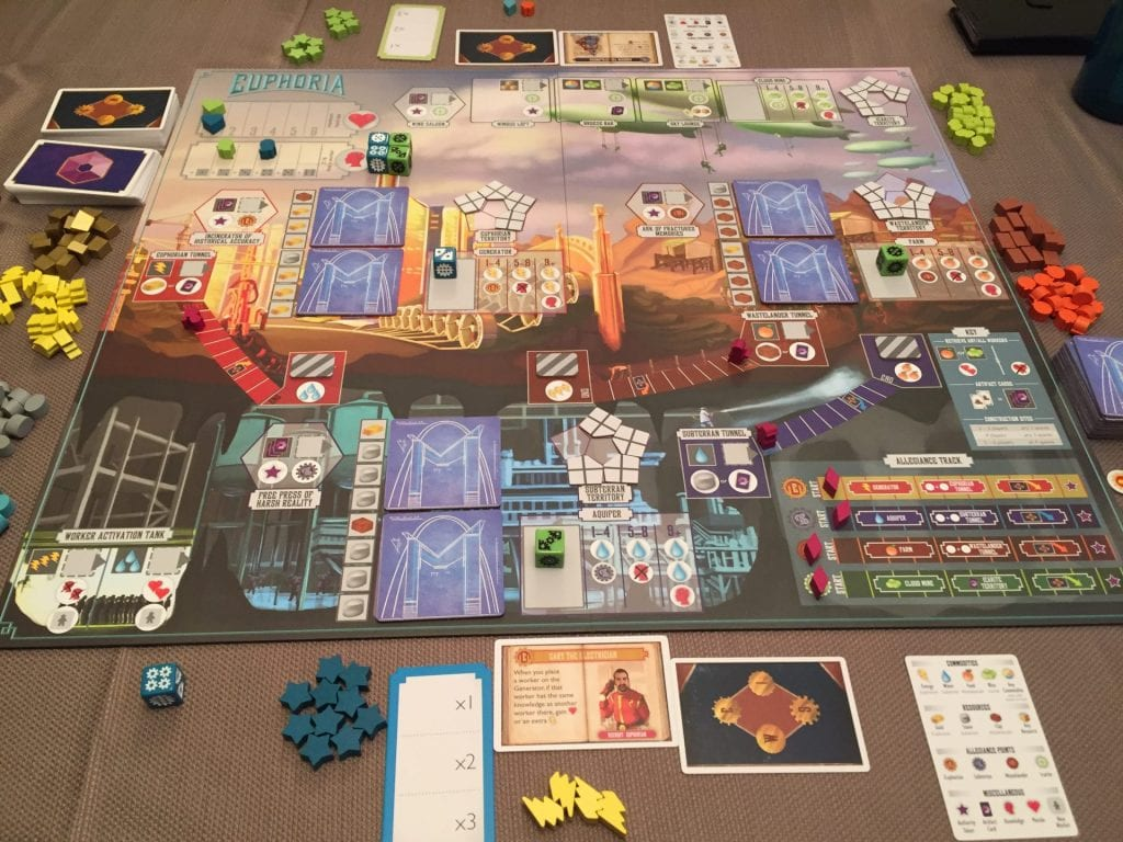 Euphoria Full Game Set Up for 2 Players