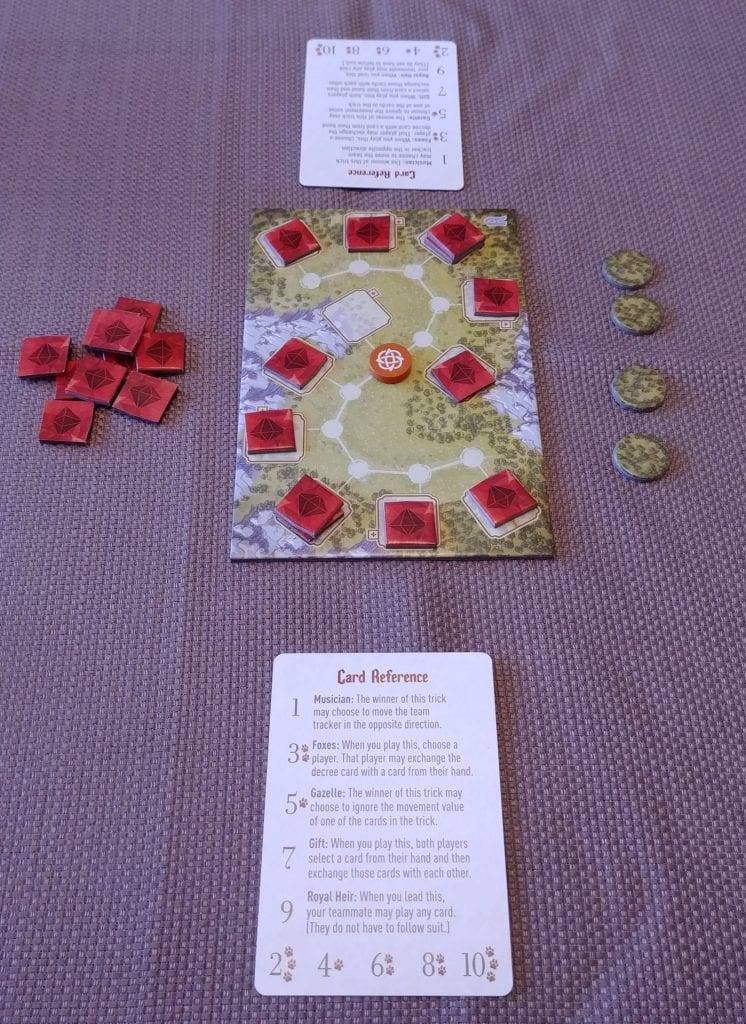 Set of the Fox in the Forest Duet game