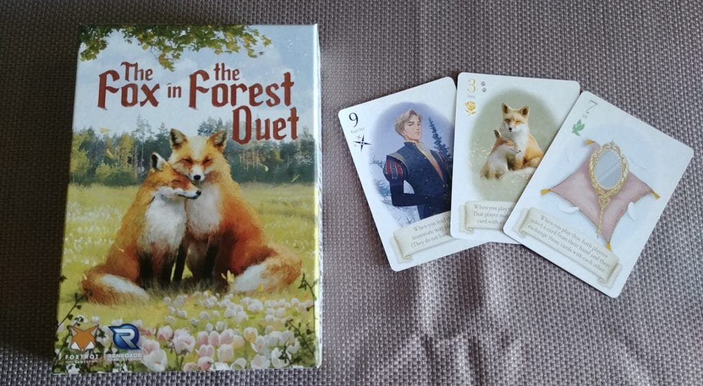 The Fox in the Forest Duet box and card art