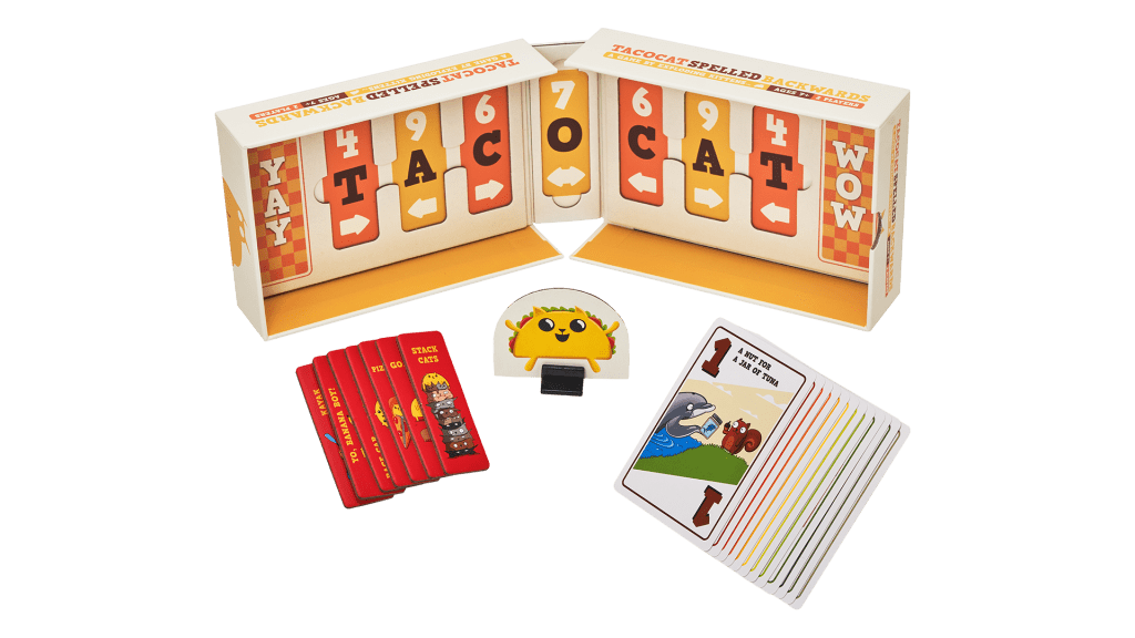 Contents of the Tacocat Spelled Backwards Game