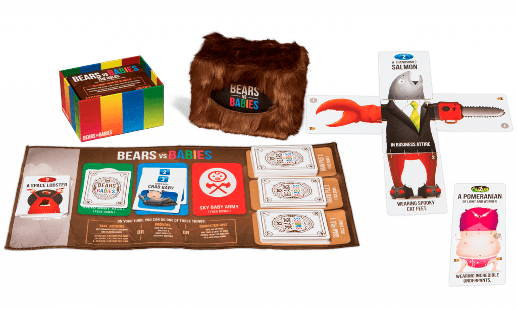 The contents of the Bears vs. Babies box